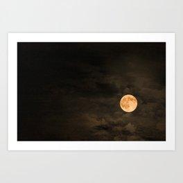Mr Moon Art Print