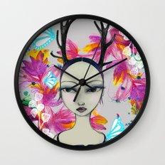 Fawn Woodland Gal Wall Clock
