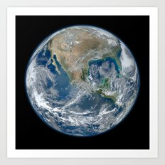 Planet Earth The Blue Marble 2012 Art Print