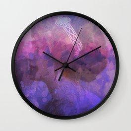 Purple haze memories Wall Clock
