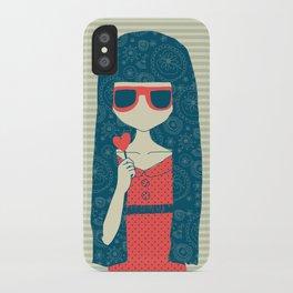 Lollipop girl iPhone Case