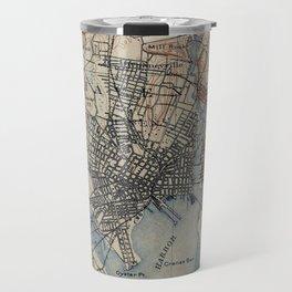 Vintage Map of New Haven Connecticut (1890) Travel Mug