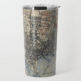 Vintage Map of New Haven Connecticut (1890) Travel Mug