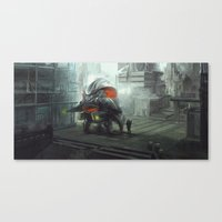titan Canvas Prints featuring Titan by Cam Floyd Illustration