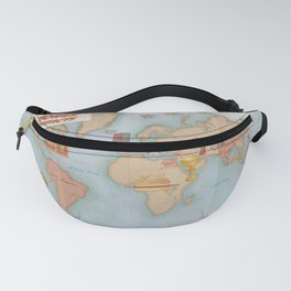 Indiana Jones Inspired Map // Indiana Jones Journey and Artifacts Fanny Pack