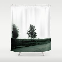Blurry Trees Shower Curtain