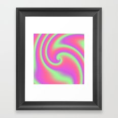 Tutti Frutti Ribbon Candy Fractal Framed Art Print