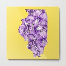 Illinois in Flowers Metal Print