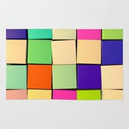 Color Cubes Rug