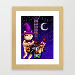 Fusion Keyblade Guitar #182 - Mogry of Glory & Pumpkinhead Framed Art Print
