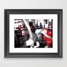 Dance a little! Framed Art Print