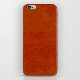 concrete orange brown copper plain texture iPhone Skin