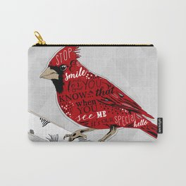 Cardinal Bird Lost Loved One Visiting Carry-All Pouch