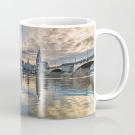 Sunset on Elbe Coffee Mug