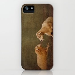 The smiling Sheeps iPhone Case