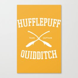 Hogwarts Quidditch Team: Hufflepuff Canvas Print