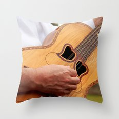 Typical Azores guitar Throw Pillow