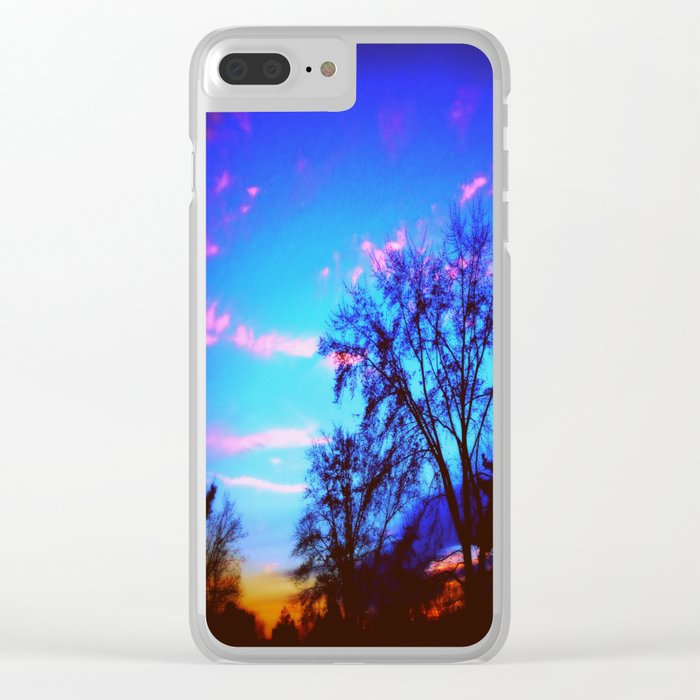 Colorful Sky (vintage) Clear iPhone Case