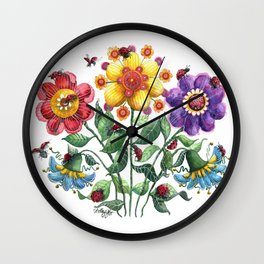 Ladybug Playground Wall Clock