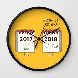 so last year... Wall Clock