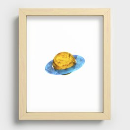 Colorful watercolor hand drawn planet. Recessed Framed Print