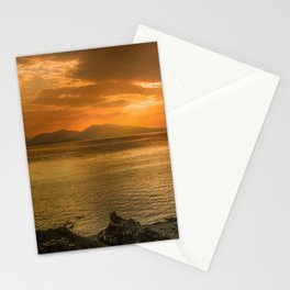 Sunset over Lismore Island of the shores of Oban in the west of Scotland. Stationery Cards