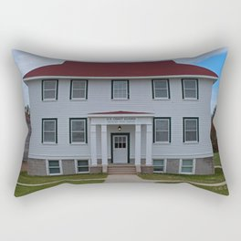 Whitefish Point Coast Guard Rectangular Pillow