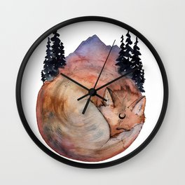 Fox Medicine Wall Clock