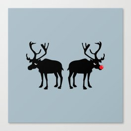 Angry Animals: Rudolph & Prancer Canvas Print