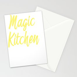Chef Cook Cooking Utensils Magic in Kitchen Gift Stationery Cards