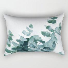 Teal Eucalyptus Rectangular Pillow