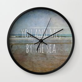 You and me, by the sea Wall Clock