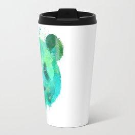 Watercolor Panda Painting Travel Mug