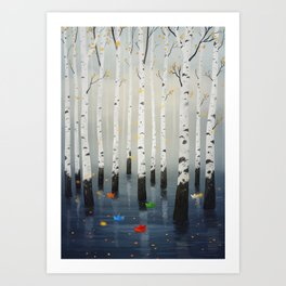 Boats in Trees Art Print