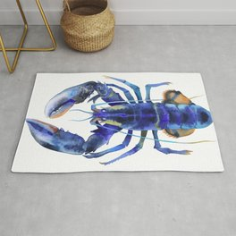 Blue Lobster №1 Rug