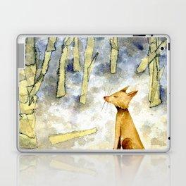 Meditating fox Laptop & iPad Skin