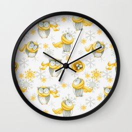 Winter Pattern 6 Wall Clock