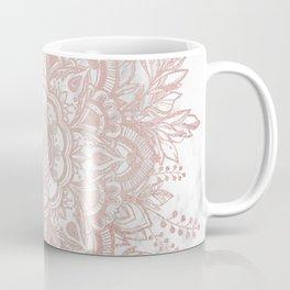 Queen Starring of Mandala-White Marble Coffee Mug
