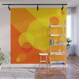 Orange Spheres Abstract Wall Mural