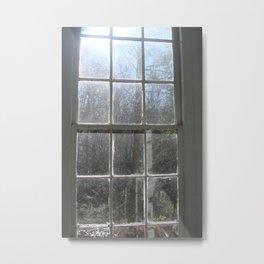 smokey mountain chapel window Metal Print