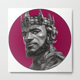 King James With the crown nba Metal Print