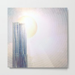 New York by Gehry Illustration Metal Print