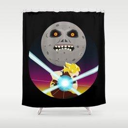 Goku VS Moon Shower Curtain