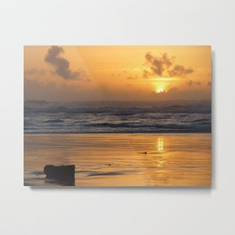 Sunset at Cape Disappointment Metal Print