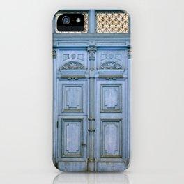 Door Series - Blue Door II iPhone Case