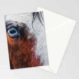 Wild Blue Eyed Horse - Close Up Stationery Cards