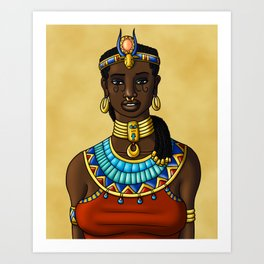 Hathor Smiles Art Print
