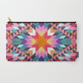 Triangles 2 abstract tribal pattern Carry-All Pouch