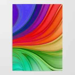 Abstract Rainbow Background Poster