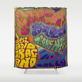 Dust and Drag Shower Curtain